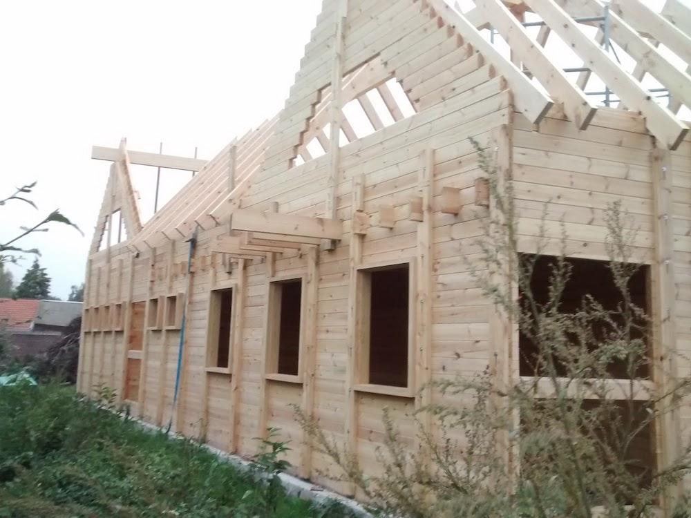 Opbouw project massieve houtbouw